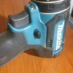Cordless drill forward and reverse button