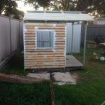 Weatherboard clad cubby house