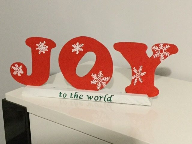 Joy Christmas decor