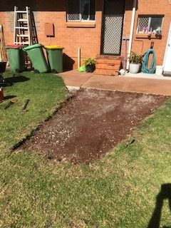 Concrete slab dug out